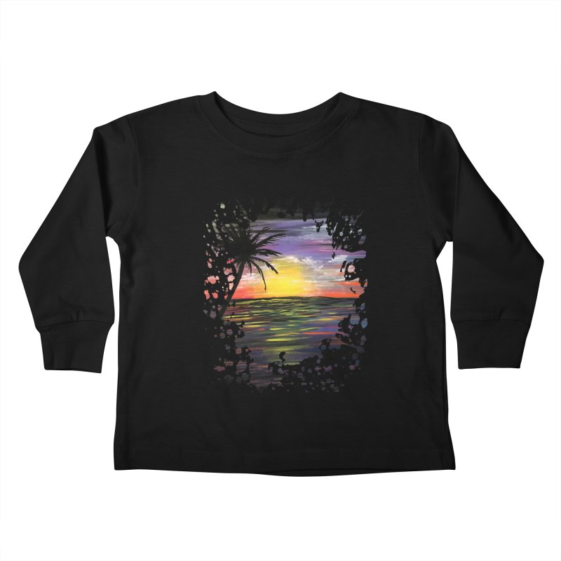 Sunset Sea Kids Toddler Longsleeve T-Shirt by adamzworld's Artist Shop