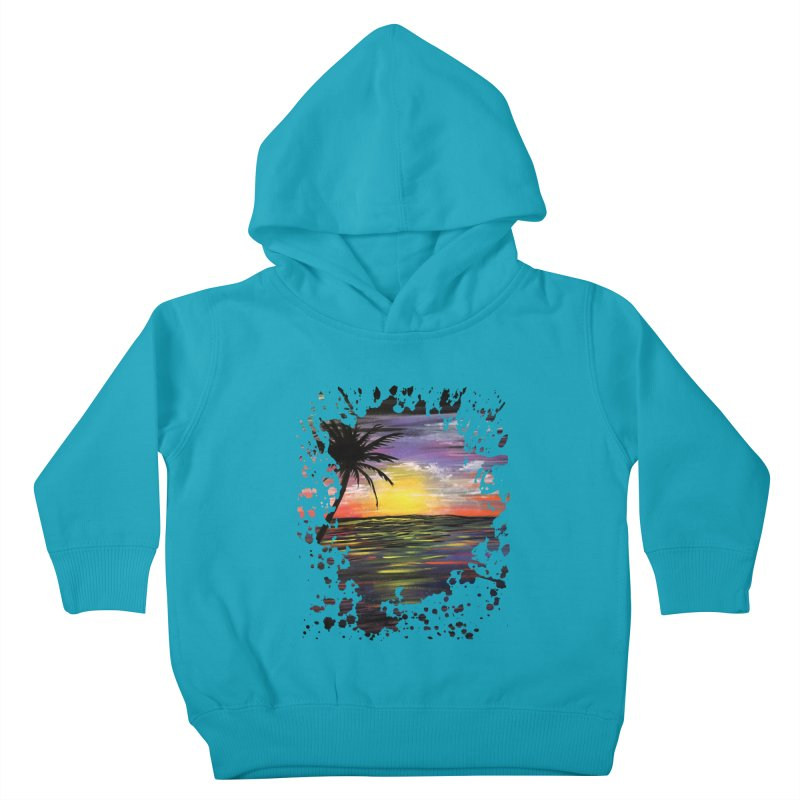Sunset Sea Kids Toddler Pullover Hoody by adamzworld's Artist Shop