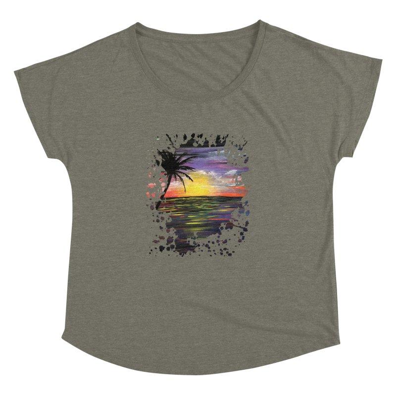 Sunset Sea Women's Dolman by adamzworld's Artist Shop