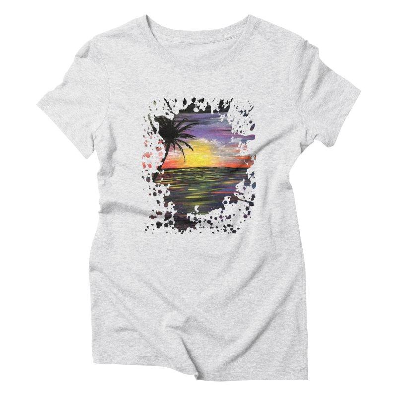 Sunset Sea Women's Triblend T-shirt by adamzworld's Artist Shop