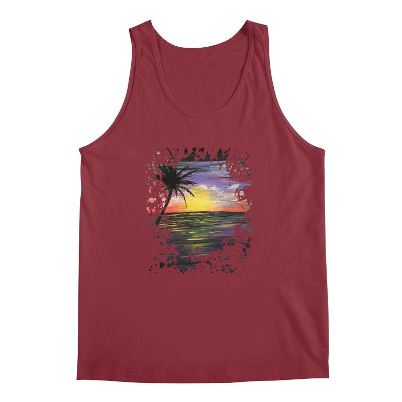 Sunset Sea Men's Tank by adamzworld's Artist Shop
