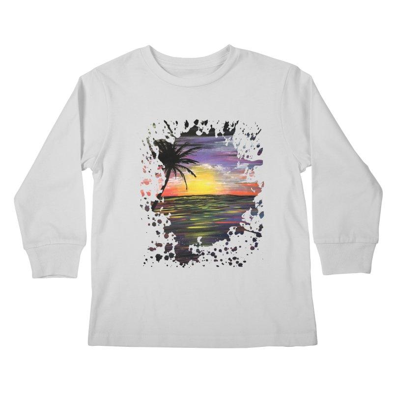 Sunset Sea Kids Longsleeve T-Shirt by adamzworld's Artist Shop