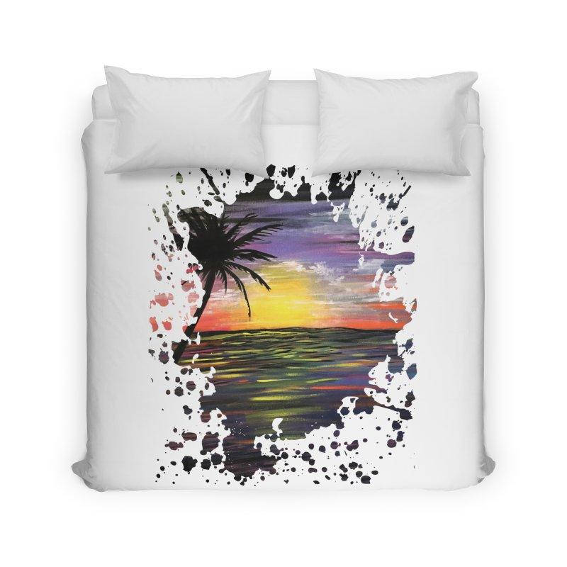 Sunset Sea Home Duvet by adamzworld's Artist Shop