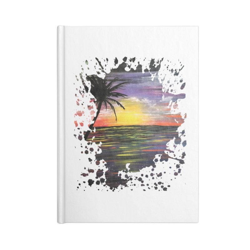 Sunset Sea Accessories Notebook by adamzworld's Artist Shop