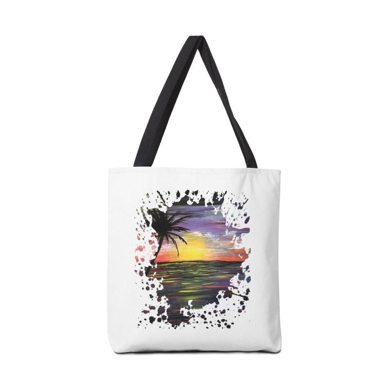 Sunset Sea Accessories Bag by adamzworld's Artist Shop