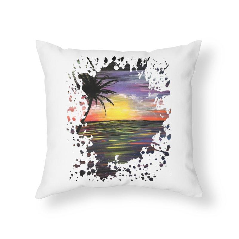 Sunset Sea Home Throw Pillow by adamzworld's Artist Shop