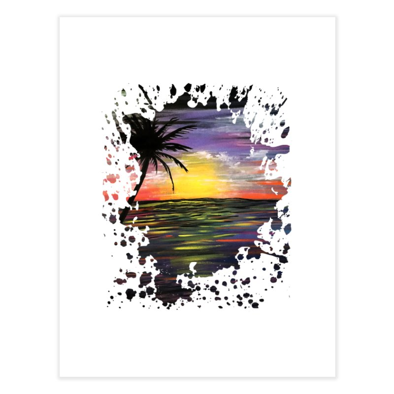 Sunset Sea Home Fine Art Print by adamzworld's Artist Shop