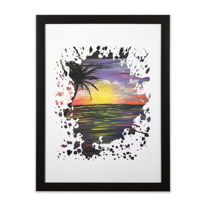 Sunset Sea Home Framed Fine Art Print by adamzworld's Artist Shop