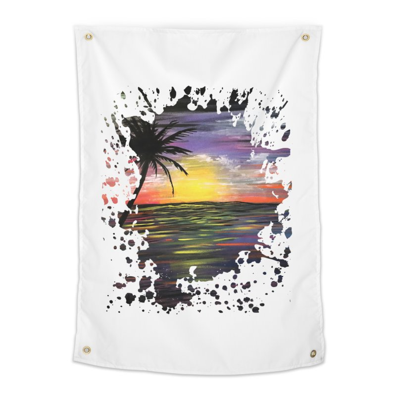 Sunset Sea Home Tapestry by adamzworld's Artist Shop