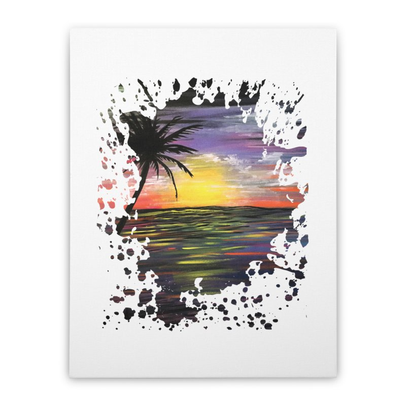 Sunset Sea Home Stretched Canvas by adamzworld's Artist Shop