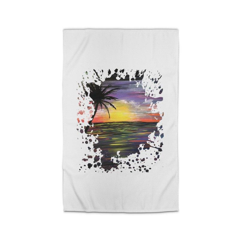 Sunset Sea Home Rug by adamzworld's Artist Shop