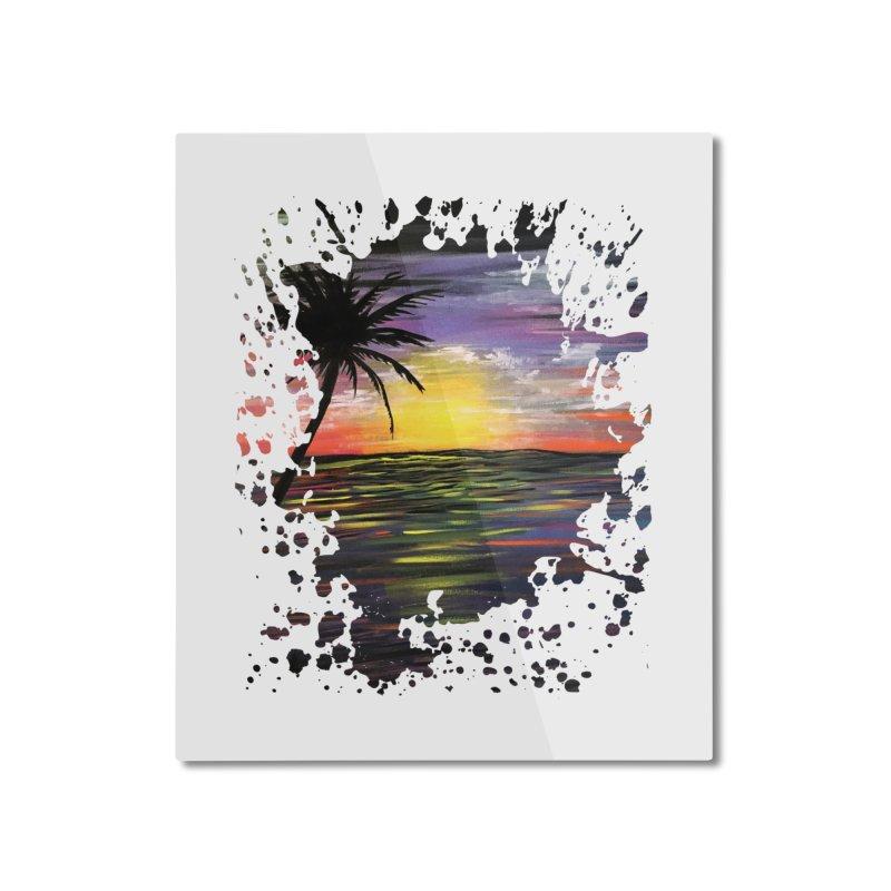 Sunset Sea Home Mounted Aluminum Print by adamzworld's Artist Shop