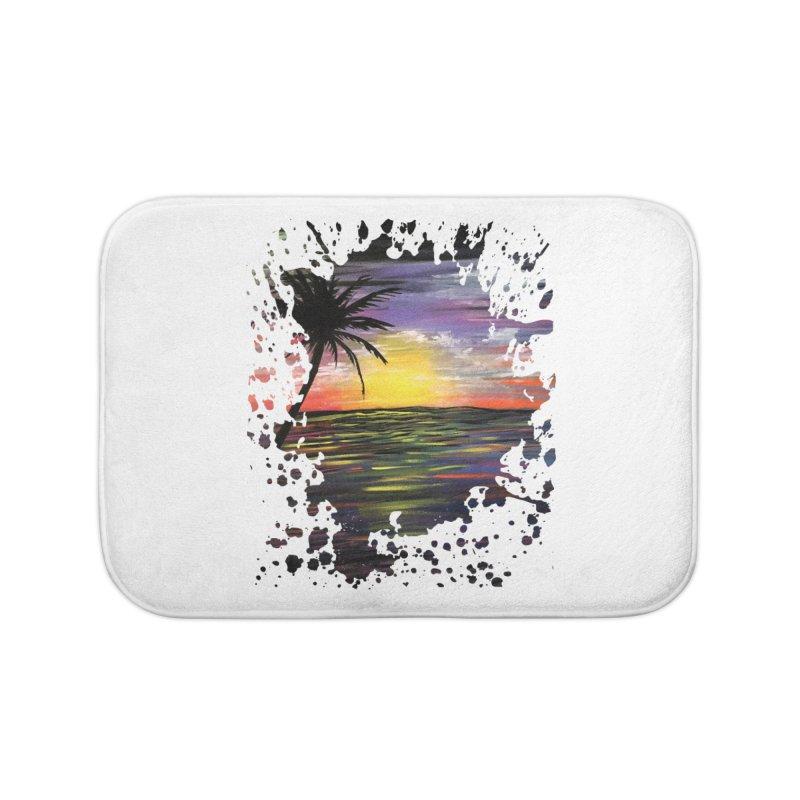 Sunset Sea Home Bath Mat by adamzworld's Artist Shop