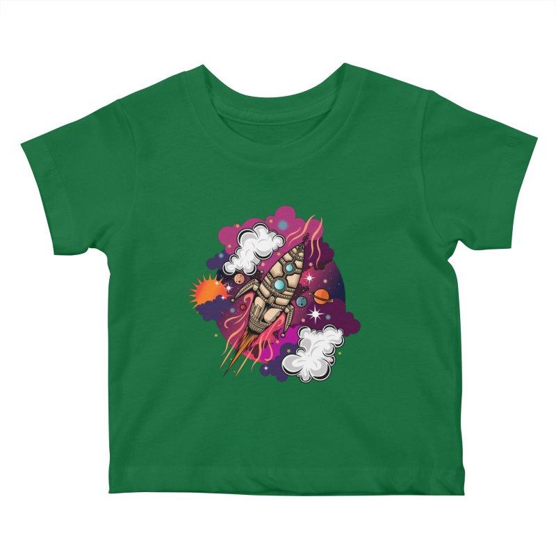 Through The Galaxy Kids Baby T-Shirt by adamzworld's Artist Shop