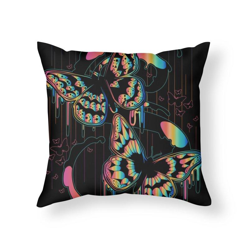 Butterfly Rain Home Throw Pillow by adamzworld's Artist Shop