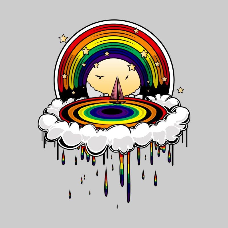 Rainbow Rain Accessories Face Mask by adamzworld's Artist Shop