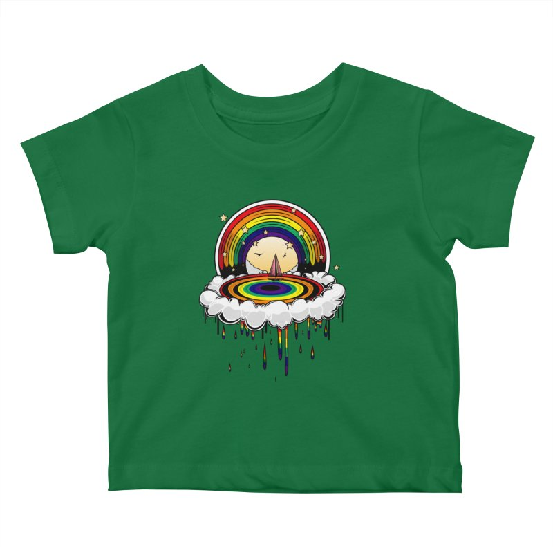 Rainbow Rain Kids Baby T-Shirt by adamzworld's Artist Shop
