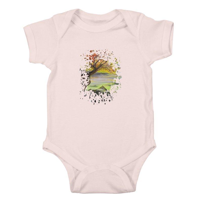 Over Looking Tree Kids Baby Bodysuit by adamzworld's Artist Shop