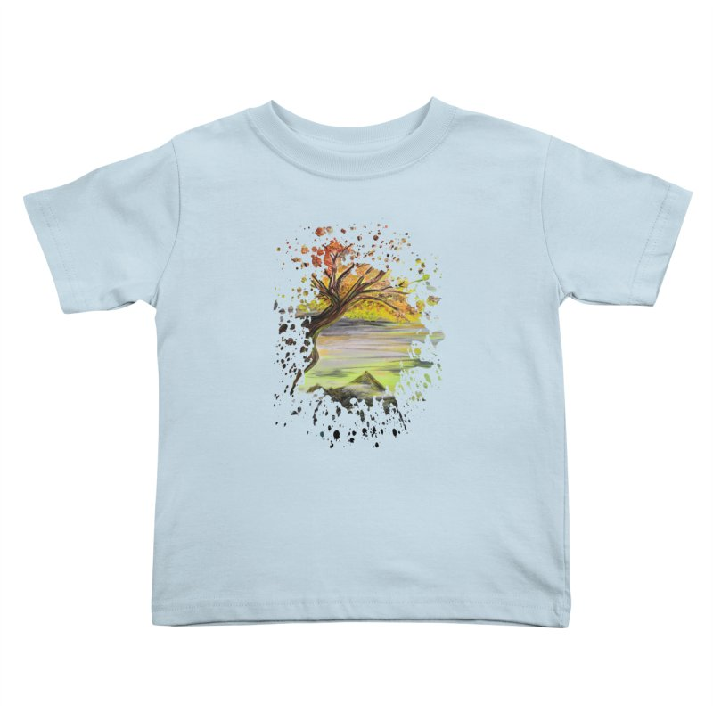 Over Looking Tree Kids Toddler T-Shirt by adamzworld's Artist Shop