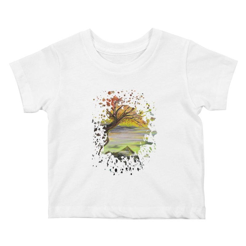 Over Looking Tree Kids Baby T-Shirt by adamzworld's Artist Shop