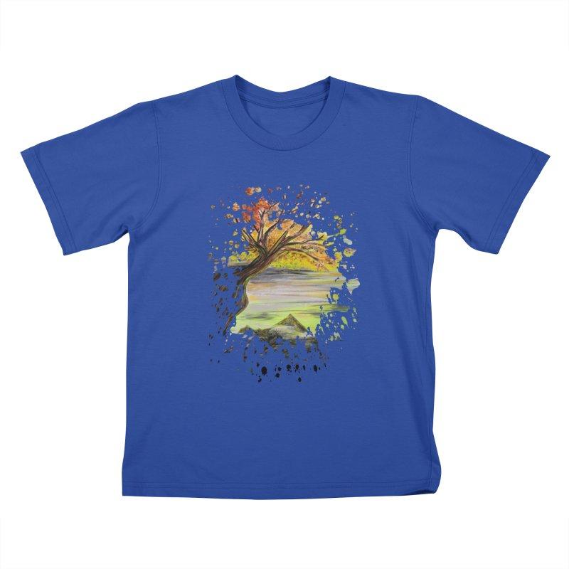 Over Looking Tree Kids T-shirt by adamzworld's Artist Shop