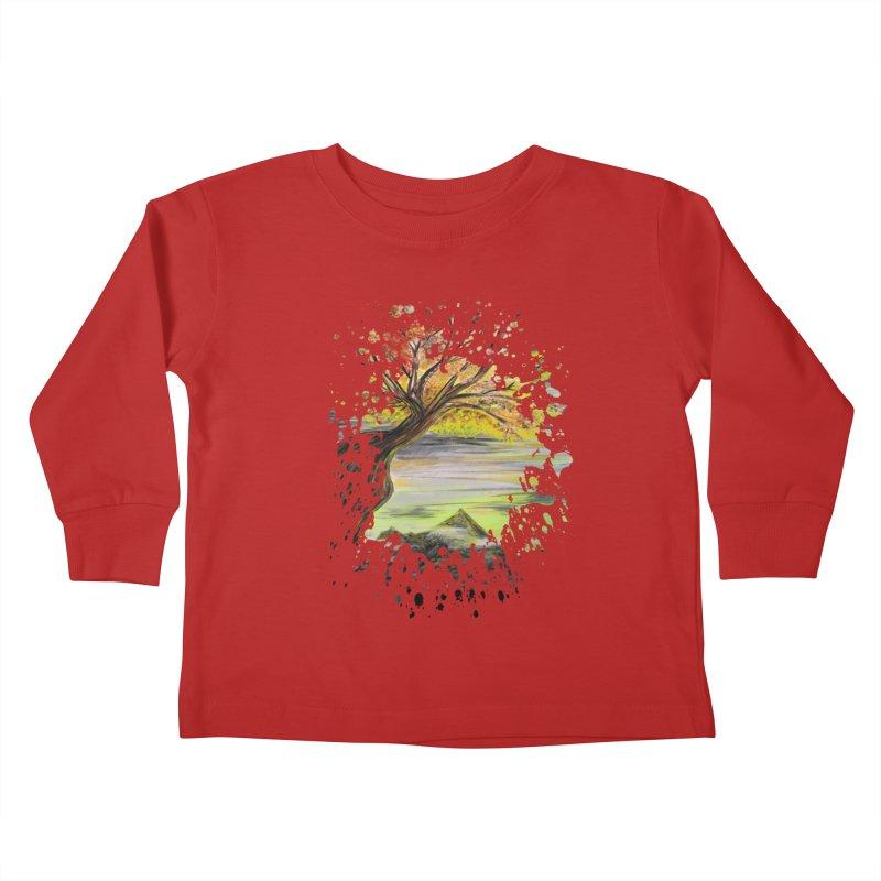 Over Looking Tree Kids Toddler Longsleeve T-Shirt by adamzworld's Artist Shop