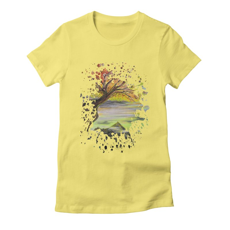Over Looking Tree Women's Fitted T-Shirt by adamzworld's Artist Shop