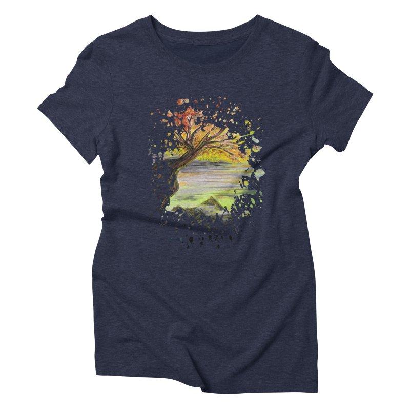 Over Looking Tree Women's Triblend T-shirt by adamzworld's Artist Shop