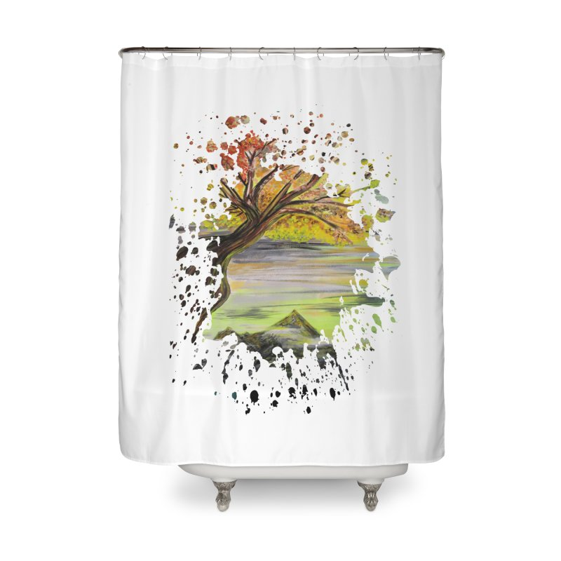 Over Looking Tree Home Shower Curtain by adamzworld's Artist Shop