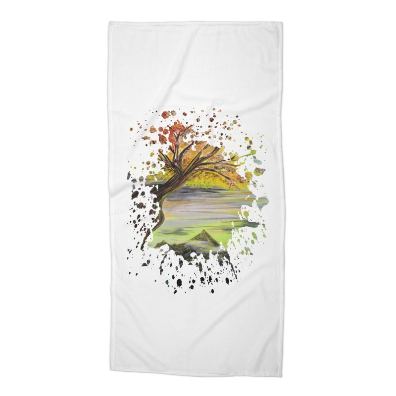 Over Looking Tree Accessories Beach Towel by adamzworld's Artist Shop
