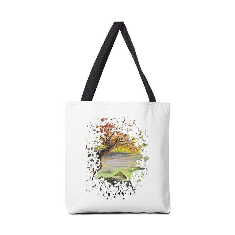 Over Looking Tree Accessories Bag by adamzworld's Artist Shop