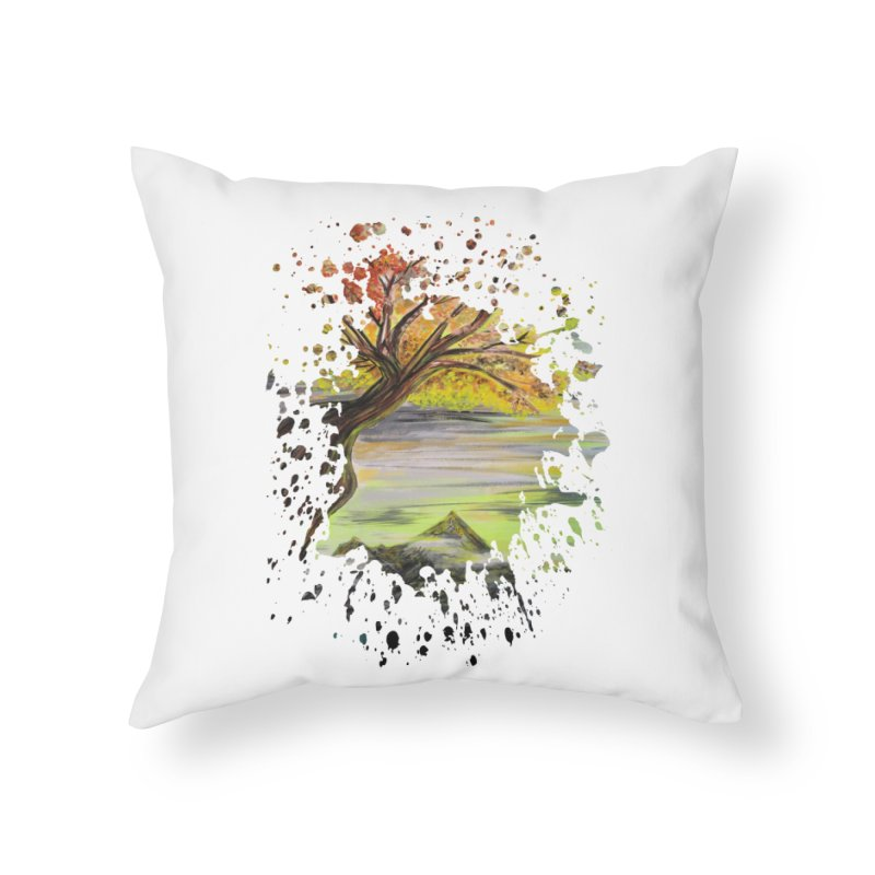 Over Looking Tree Home Throw Pillow by adamzworld's Artist Shop