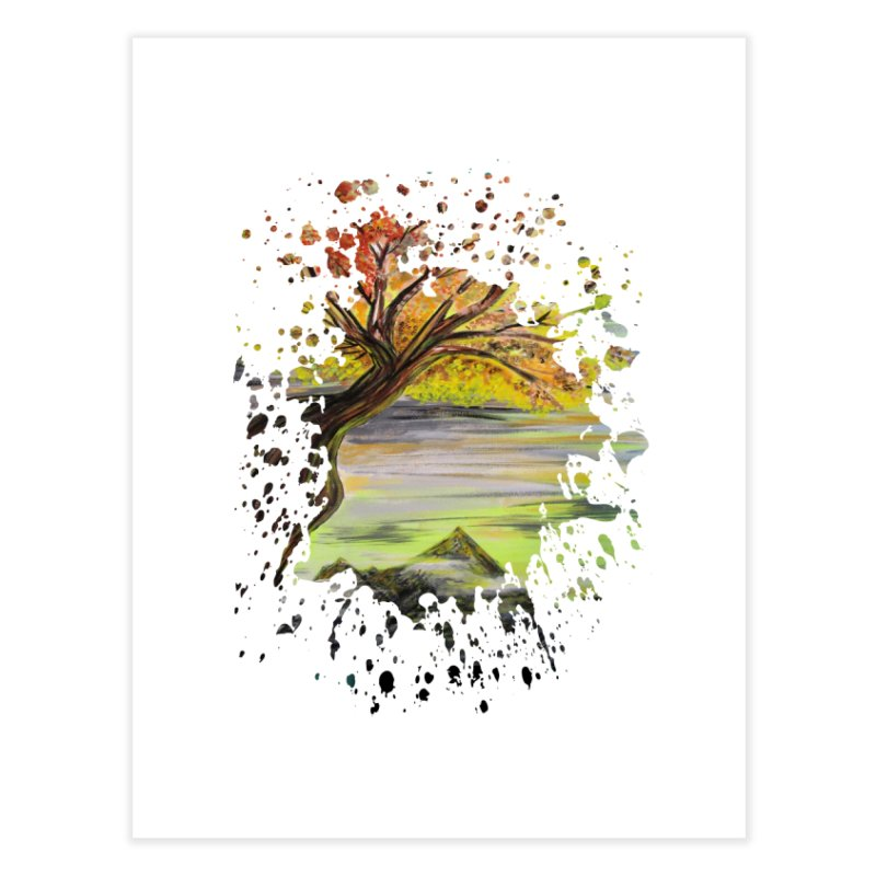 Over Looking Tree Home Fine Art Print by adamzworld's Artist Shop