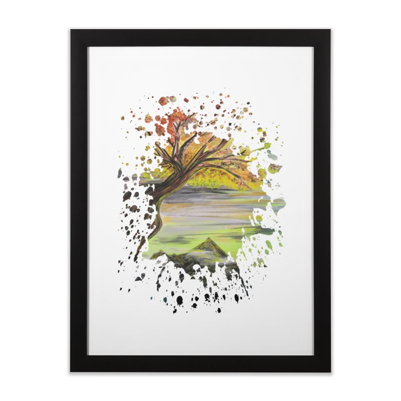 Over Looking Tree Home Framed Fine Art Print by adamzworld's Artist Shop