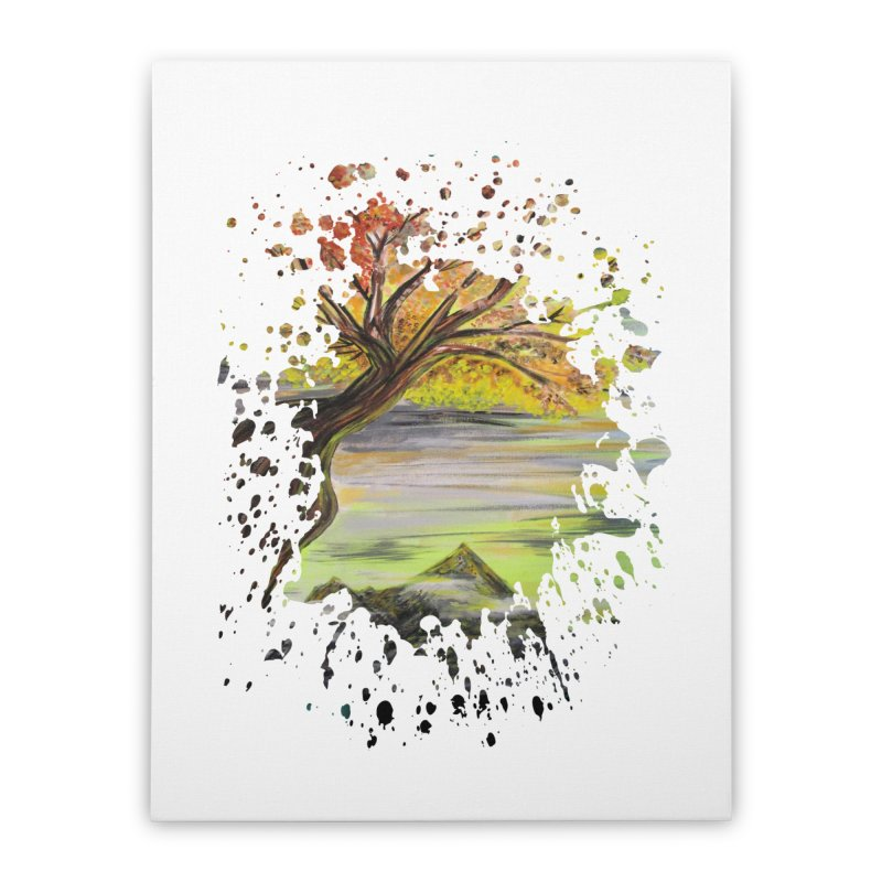 Over Looking Tree Home Stretched Canvas by adamzworld's Artist Shop