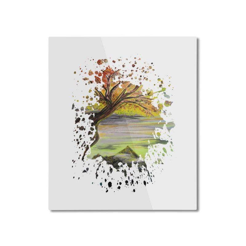 Over Looking Tree Home Mounted Aluminum Print by adamzworld's Artist Shop