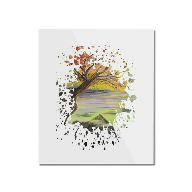 Over Looking Tree Home Mounted Acrylic Print by adamzworld's Artist Shop