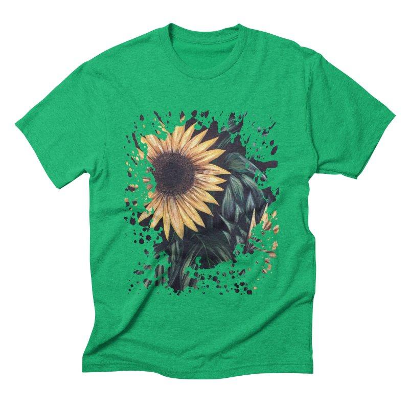 Sunflower Life Men's Triblend T-shirt by adamzworld's Artist Shop