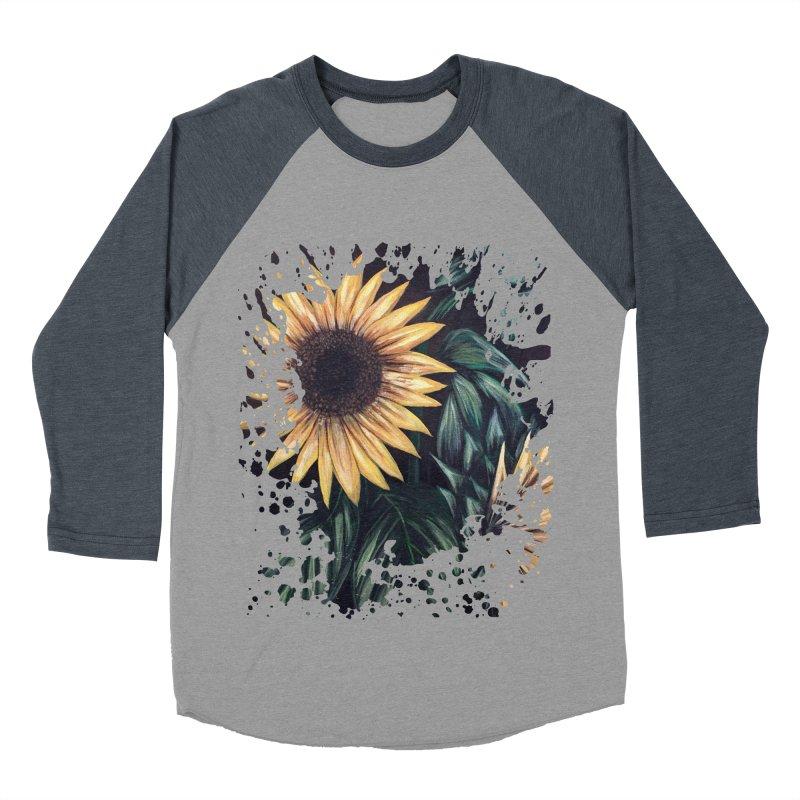 Sunflower Life Women's Baseball Triblend T-Shirt by adamzworld's Artist Shop