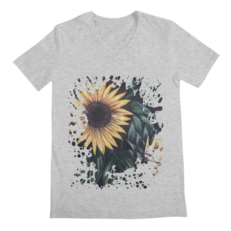 Sunflower Life Men's V-Neck by adamzworld's Artist Shop