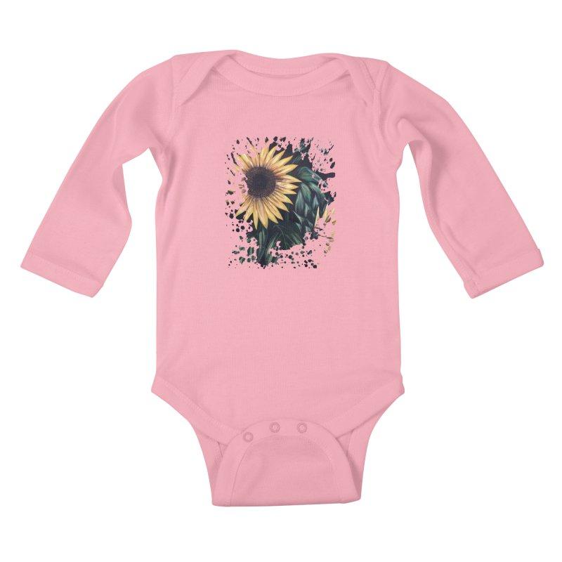 Sunflower Life Kids Baby Longsleeve Bodysuit by adamzworld's Artist Shop