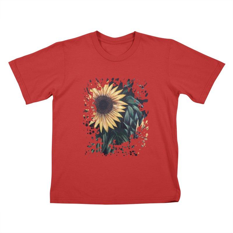 Sunflower Life Kids T-shirt by adamzworld's Artist Shop