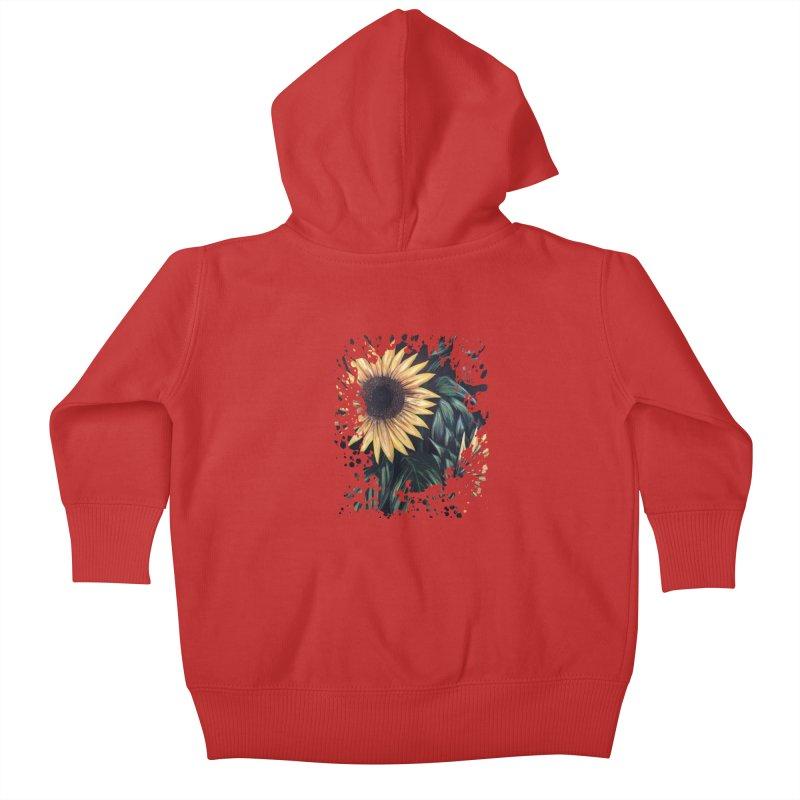 Sunflower Life Kids Baby Zip-Up Hoody by adamzworld's Artist Shop