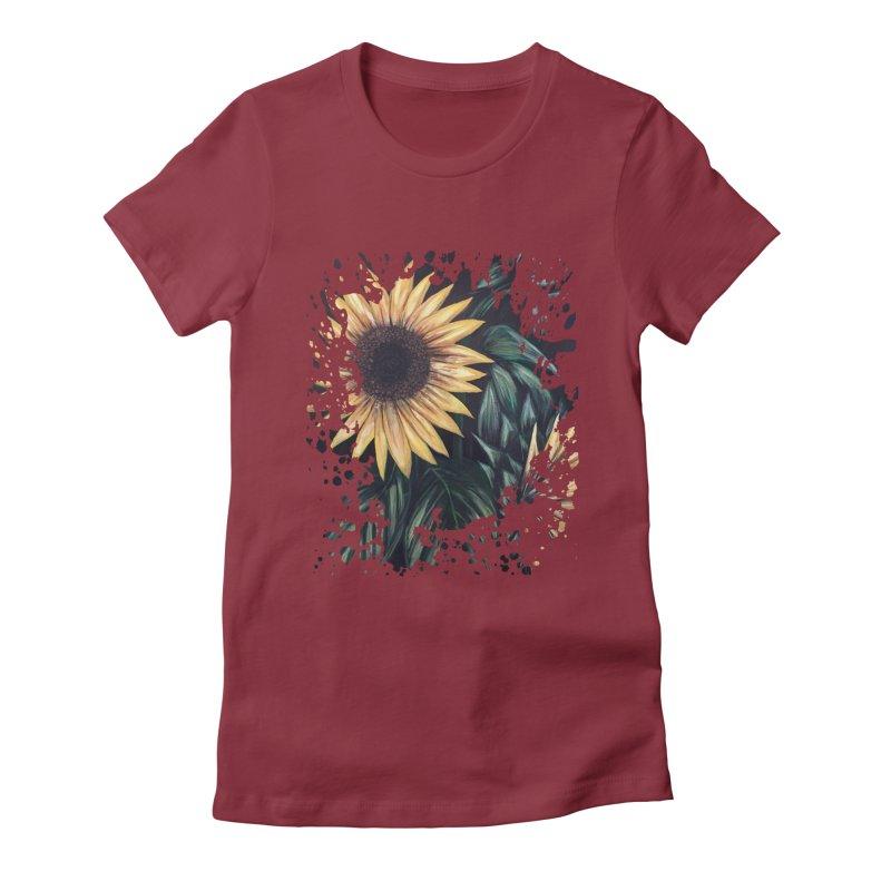 Sunflower Life Women's Fitted T-Shirt by adamzworld's Artist Shop