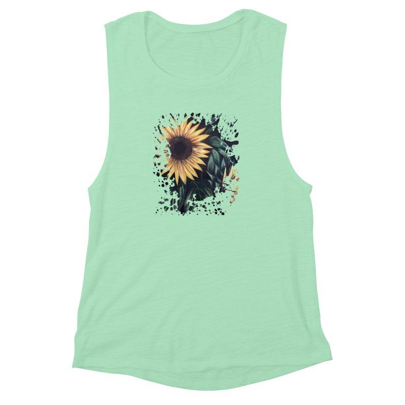 Sunflower Life Women's Muscle Tank by adamzworld's Artist Shop
