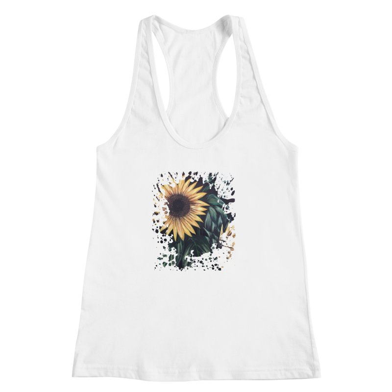 Sunflower Life Women's Racerback Tank by adamzworld's Artist Shop