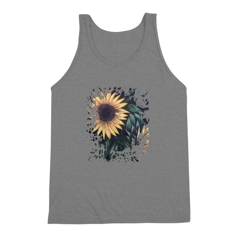 Sunflower Life Men's Triblend Tank by adamzworld's Artist Shop