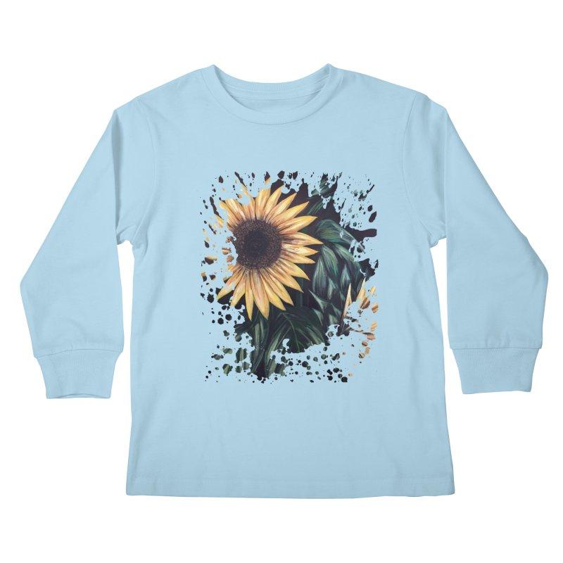 Sunflower Life Kids Longsleeve T-Shirt by adamzworld's Artist Shop