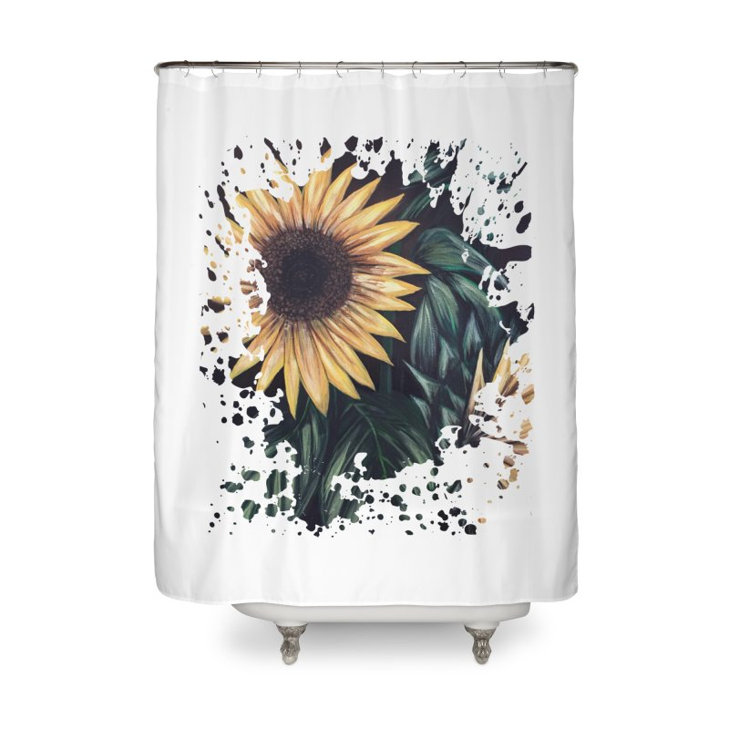 Sunflower Life Home Shower Curtain by adamzworld's Artist Shop