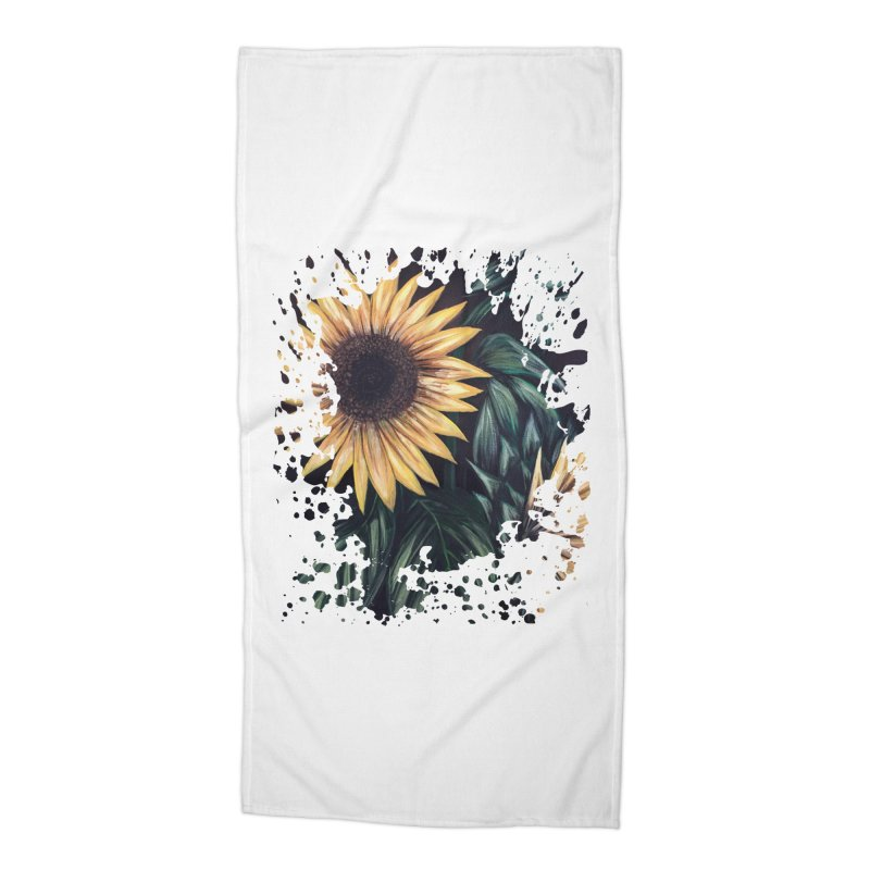 Sunflower Life Accessories Beach Towel by adamzworld's Artist Shop